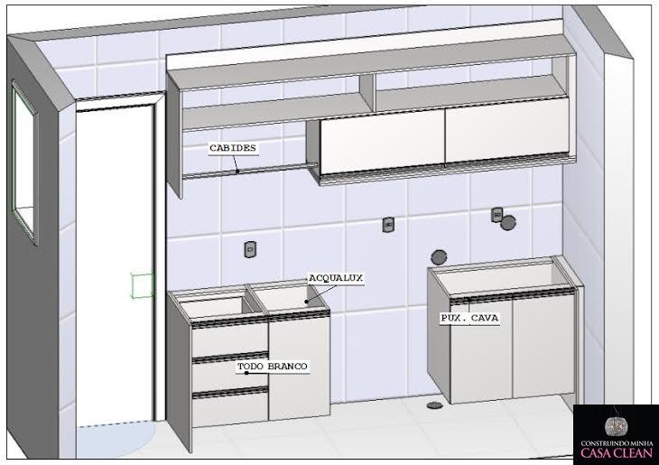 Populares Construindo Minha Casa Clean: Projeto da Minha Lavanderia Sob  TN85