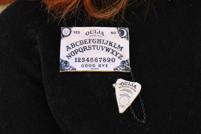 1950s vintage halloween plus size ouija board novelty brooch