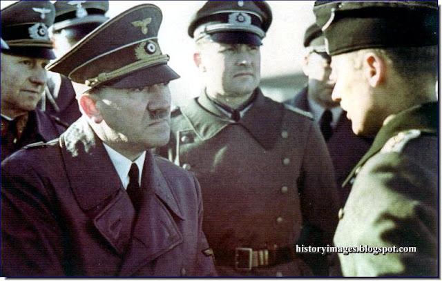 Adolf Hitler  General Alfred Jodl Hitler's adjutant Major Gerhard Engel