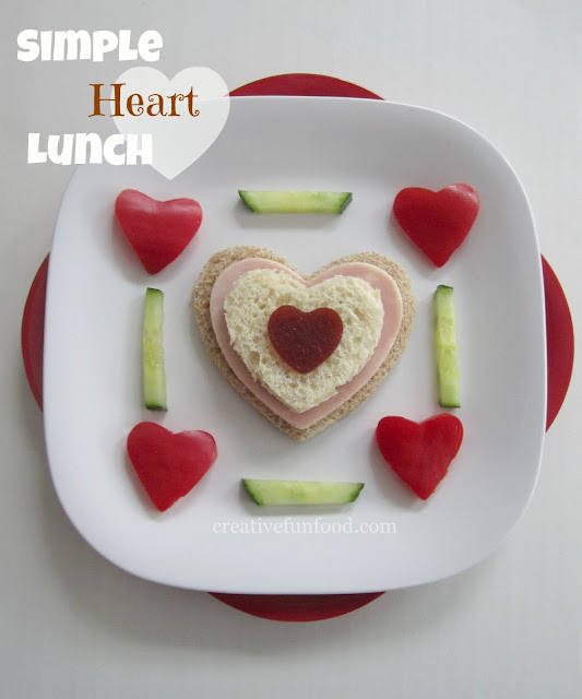 Creative Food Simple Heart Lunch