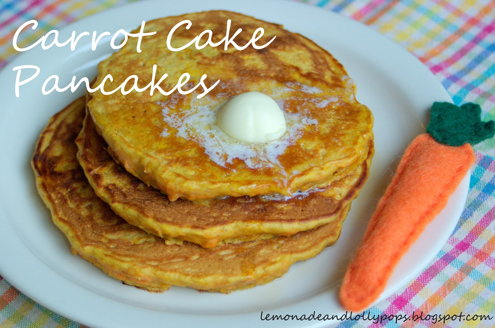 Lemonade and Lollypops: Carrot Cake Pancakes