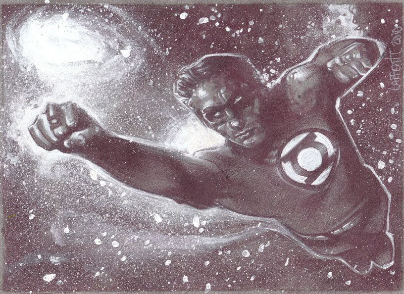 Green Lantern (Pencil study) Original art by Jeff Lafferty
