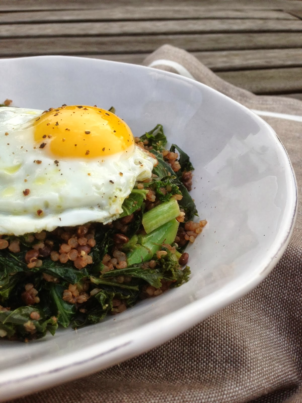 Kale, Quinoa and Puy Lentils