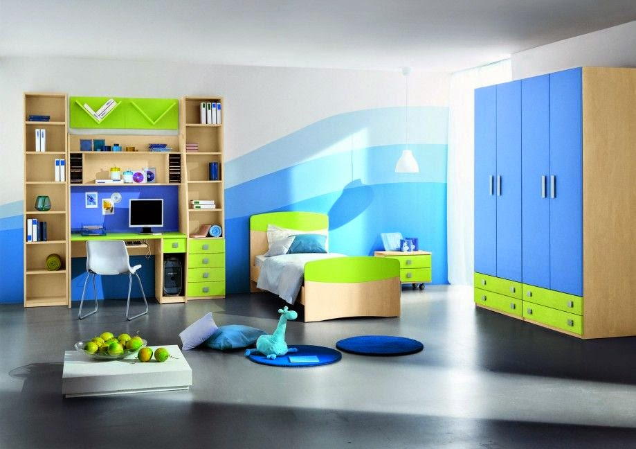 Light-Blue-Kids-Bedroom-Designs