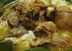 resep masakan indonesia khas semarang nasi gandul spesial praktis, mudah, nikmat, lezat