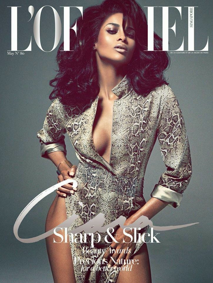 Model @ Ciara Flaunts Cleavage - L'Officiel Singapore, May 2015