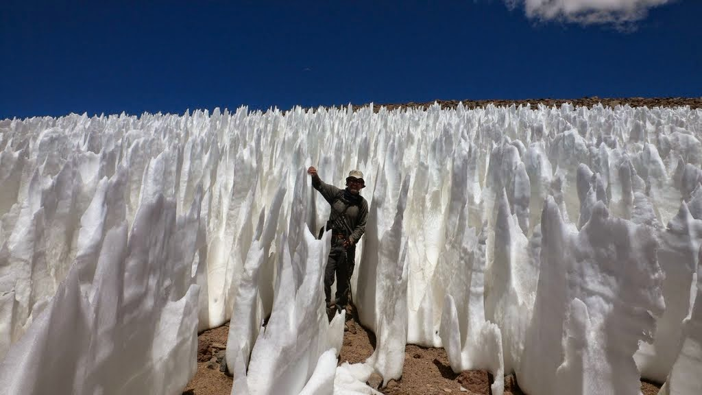 Penitentes from Vanishing Ice Most Likely All Natural by Jim Steele