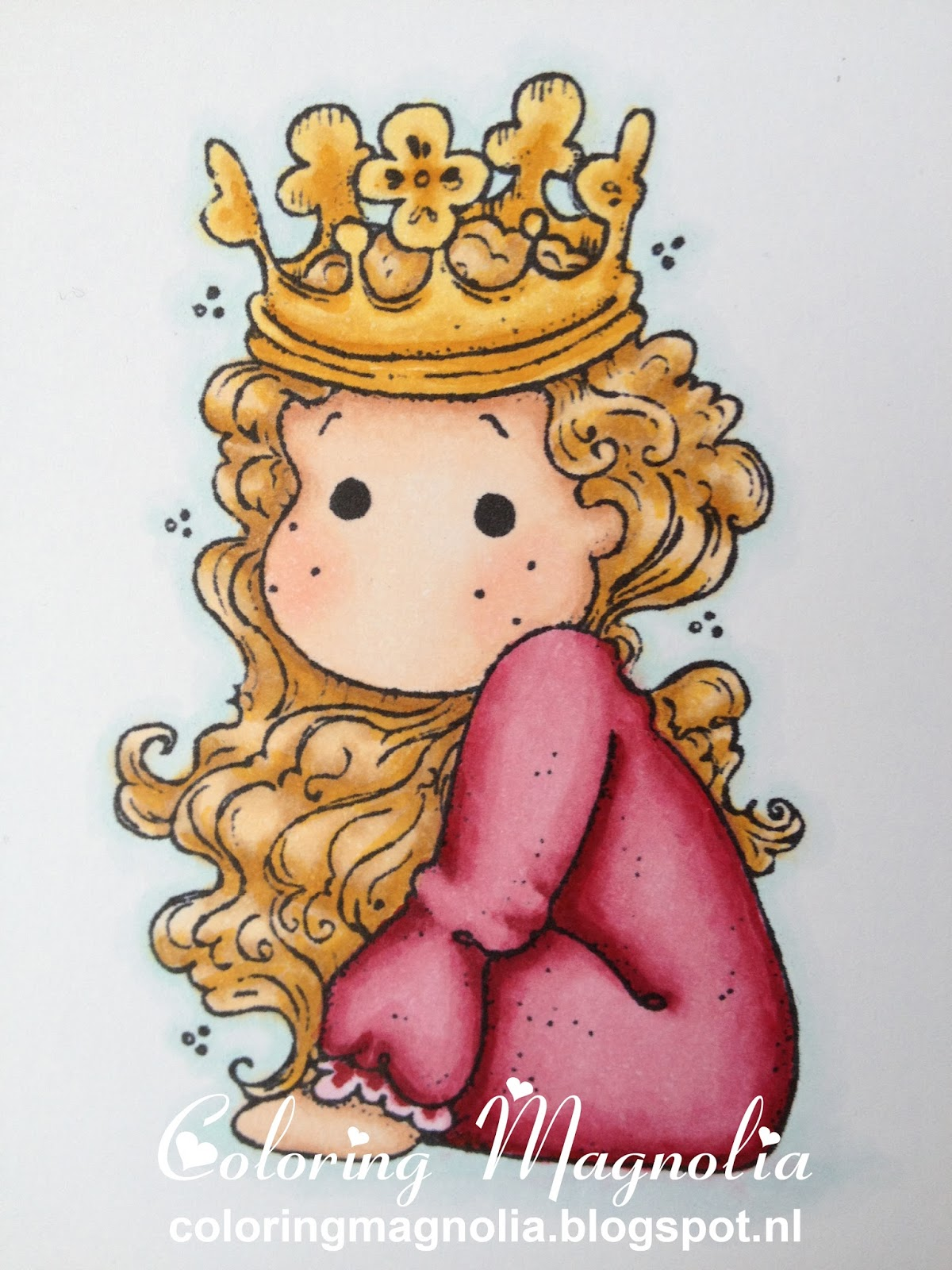 Coloring Magnolia Stamp 2013 Once Upon A Time - Little Cute Tilda