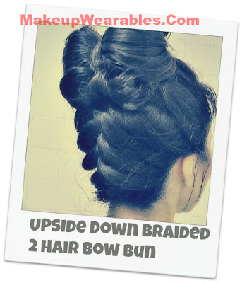DIY Step-by-step, upside down braid, hair bow making tutorial for  medium long hair.  Prom, wedding