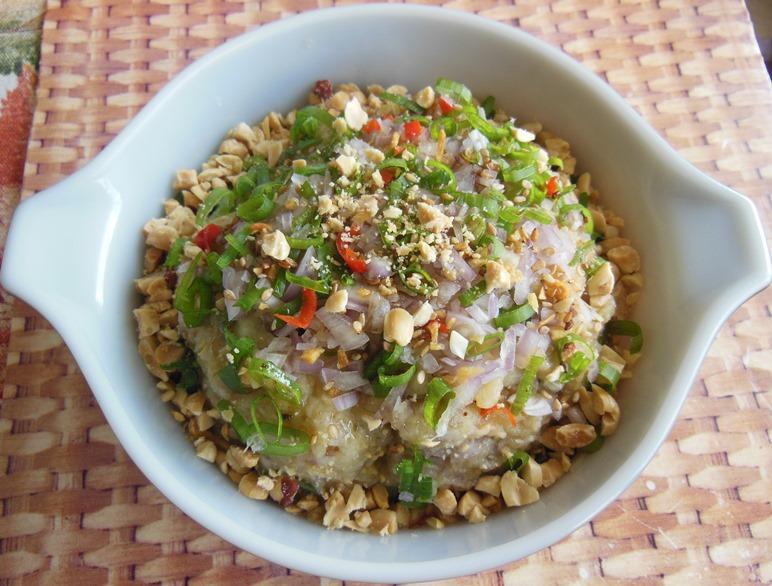 ... Kitchen : Burmese Roasted Eggplant Salad - Khayan Dhi Pope Thoke