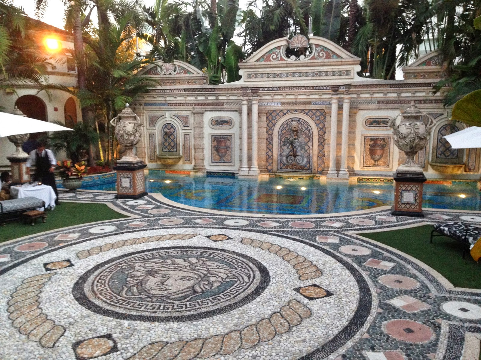 African home decor april 2014 for Versace pool design