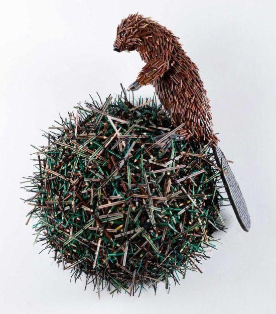 Federico Uribe esculturas lápis Castor