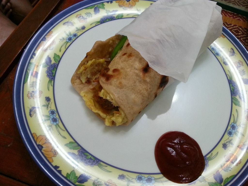scribbling away to glory  chicken kathi roll made at