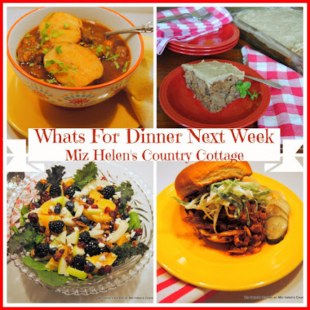 Whats For Dinner Next Week * Week Of 1-14-18