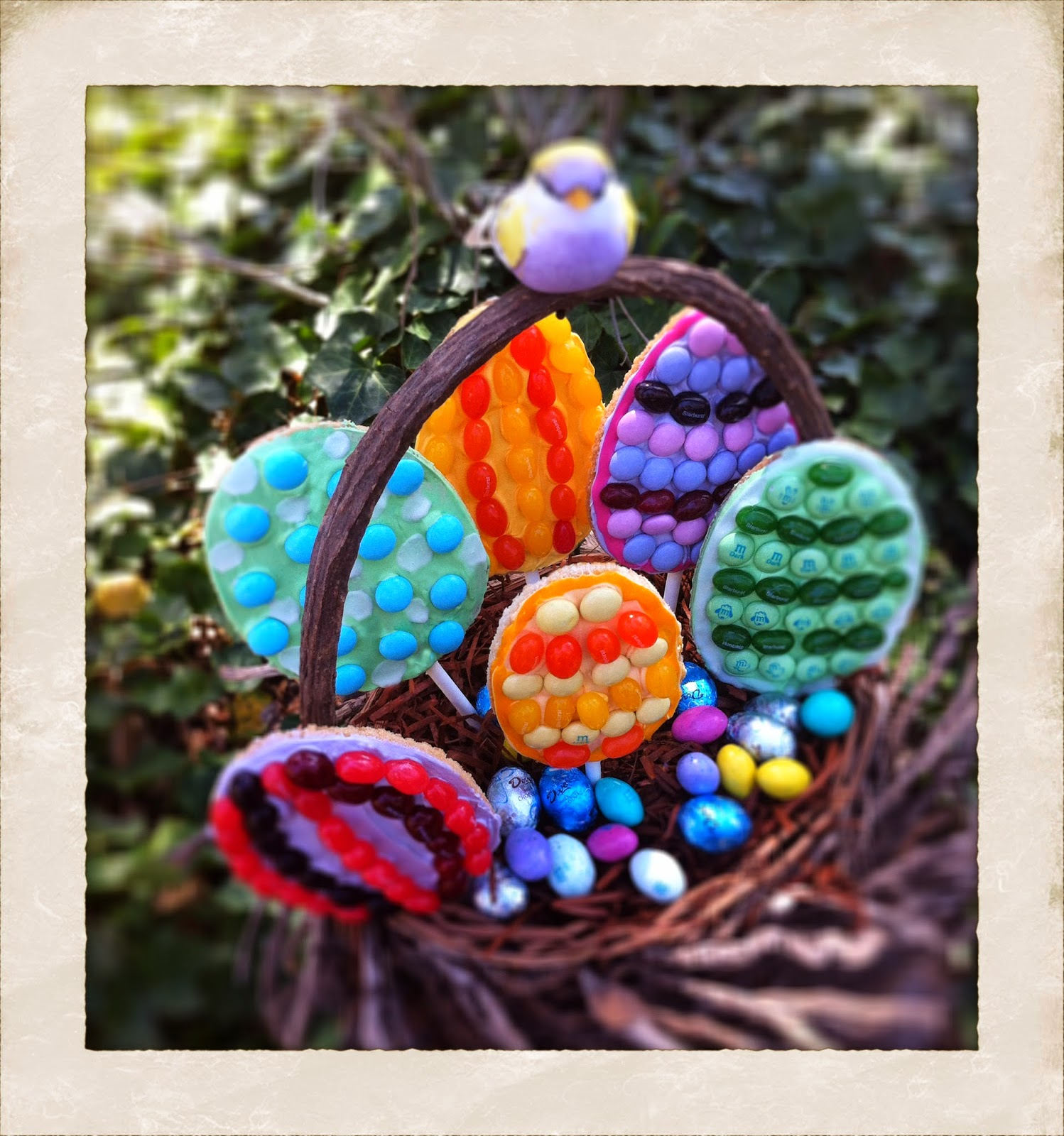 Easter Egg Cookie Pop Nest Basket