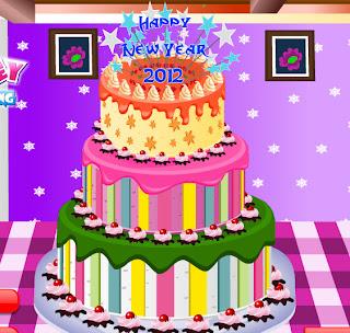 Juego de decorar una tarta para año nuevo