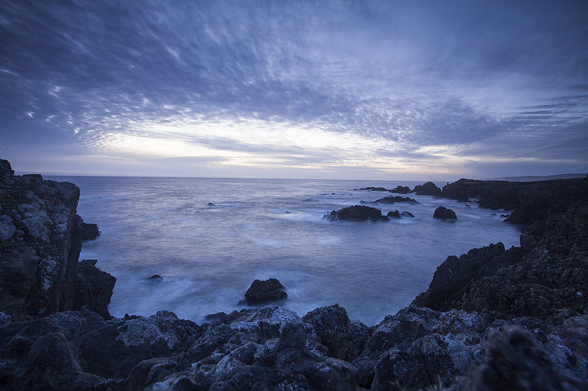 Sunset on the Pacific Coast by David West
