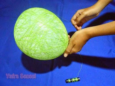 Asiknya Membuat Lampion Cantik dari Balon 5