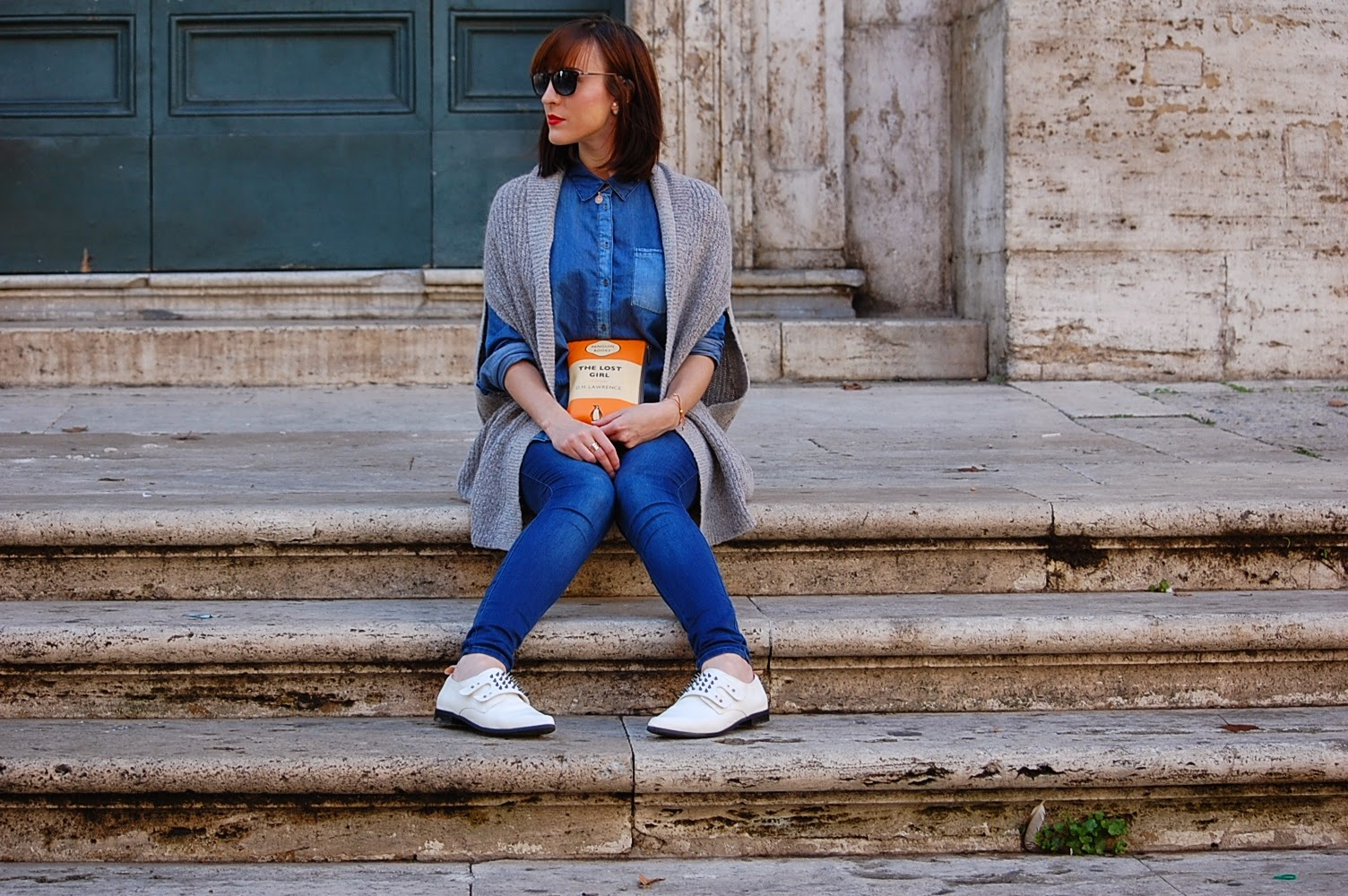 double denim fashion blogger outfit style