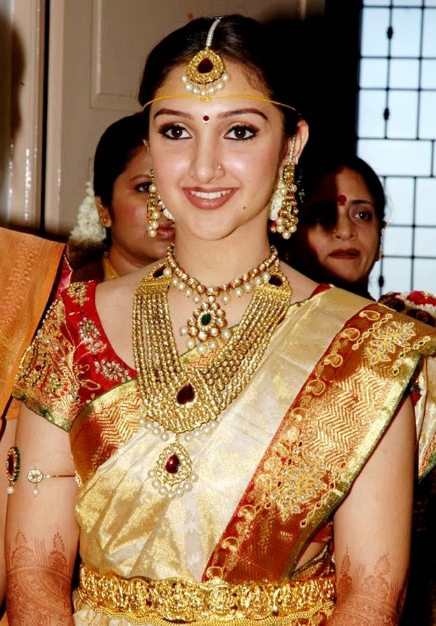 Pink with gold color silk thread bangles set - Actress Sridevi Wedding Photo Gallery Chankay