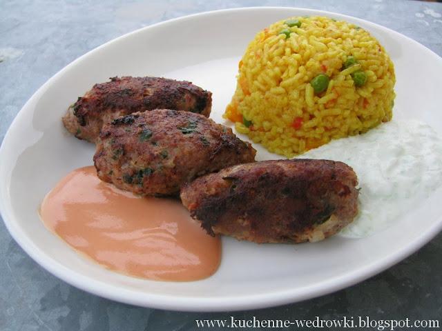 Żółty ryż z warzywami