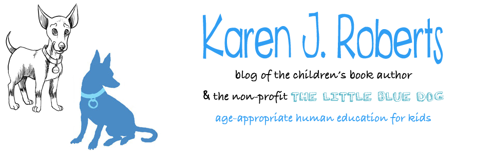 Author Karen J. Roberts & The Little Blue Dog