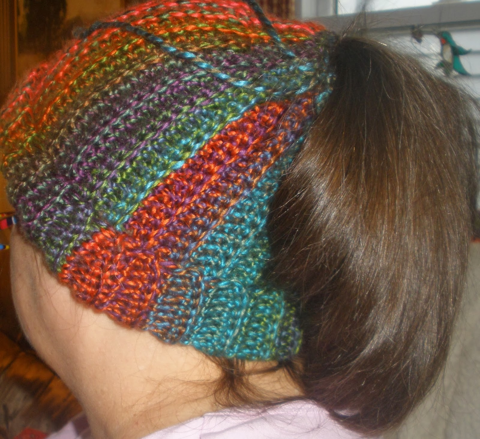 For the Love of Crochet Along: Pony Tail Ski Hat
