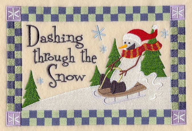 Dashing through the snow virtual race