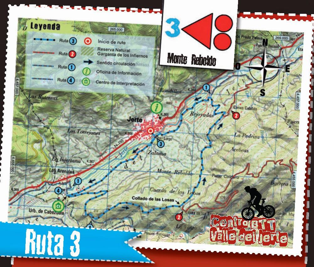 CENTRO BTT VALLE DEL JERTE. RUTA 3: Monte Reboldo