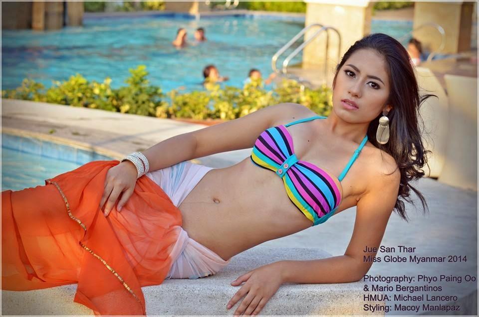 Miss Globe Myanmar 2014 Jue San Thar
