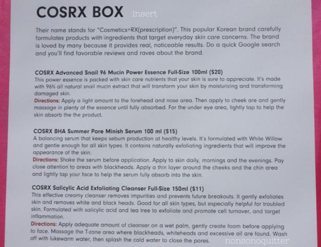 CosRX Box Insert Memebox