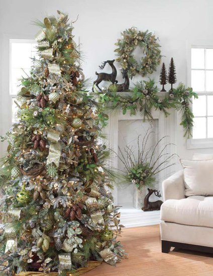 Christmas decoration ideas theme colors part 2 for A green christmas decoration