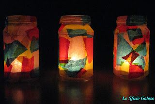 lanterne di vetro colorato fai da te