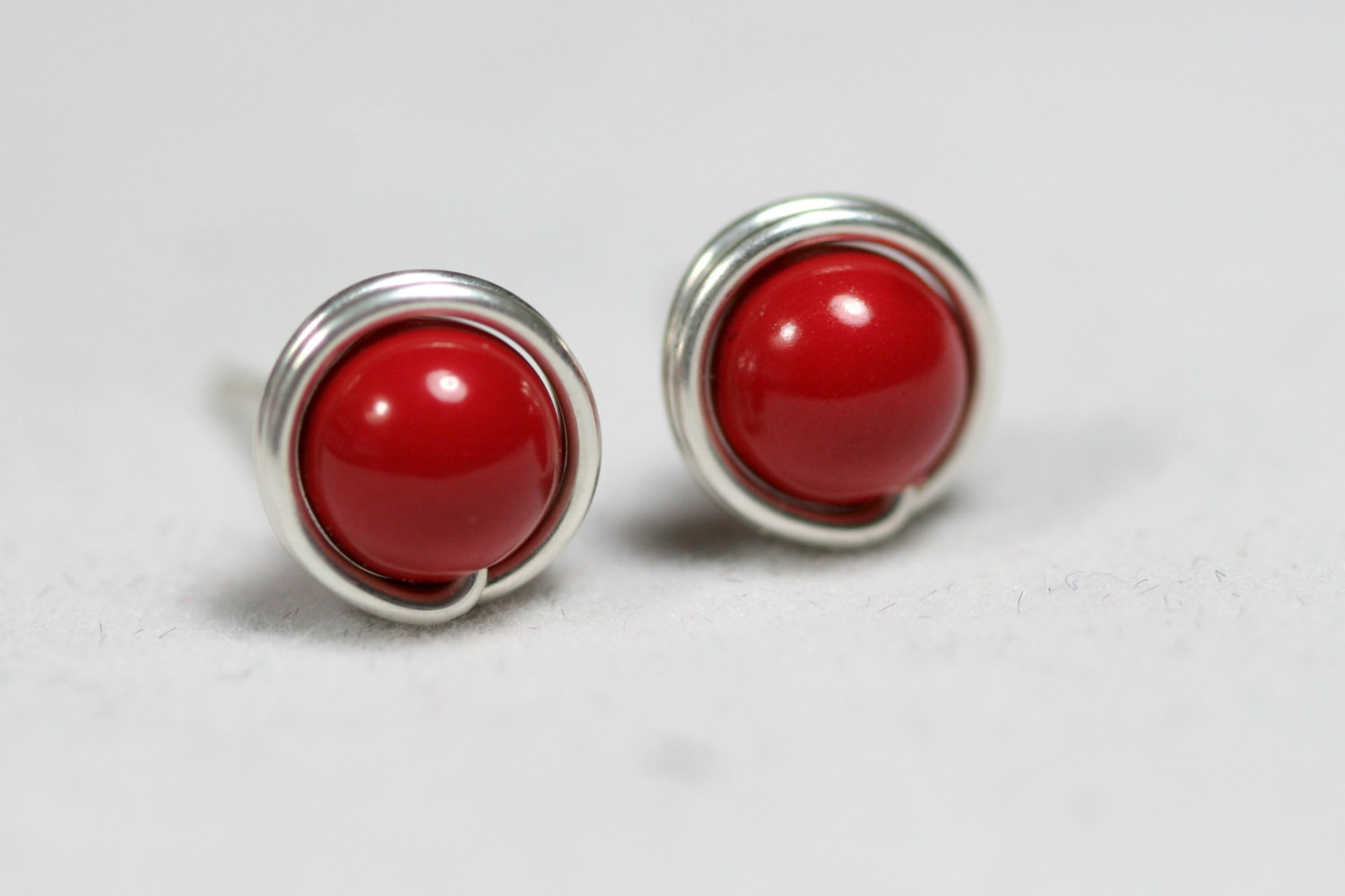 Image result for coral stone earrings