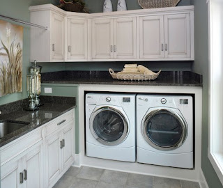 a washing machine - in the kitchen or in the bathroom