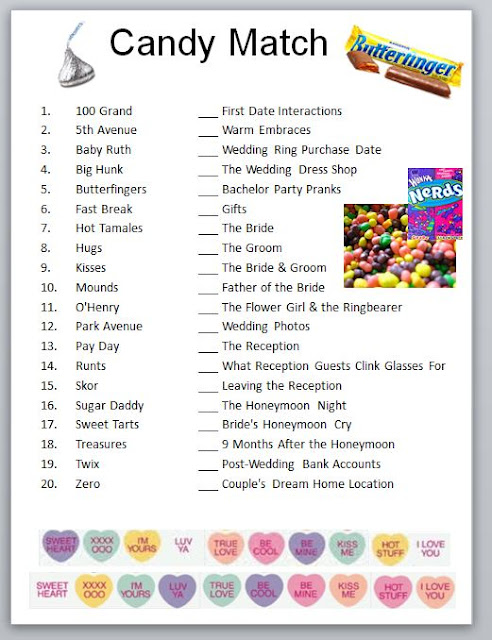 candy bar baby shower word game downloadable printable baby shower car