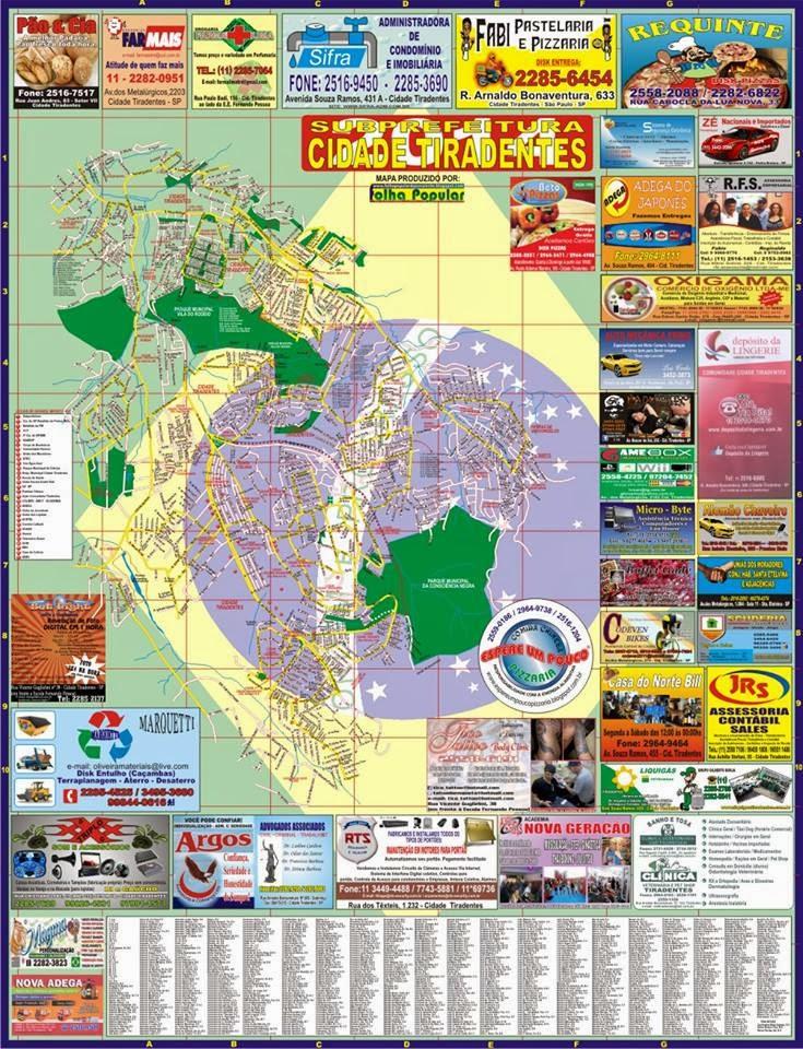 Mapa de Cidade Tiradentes