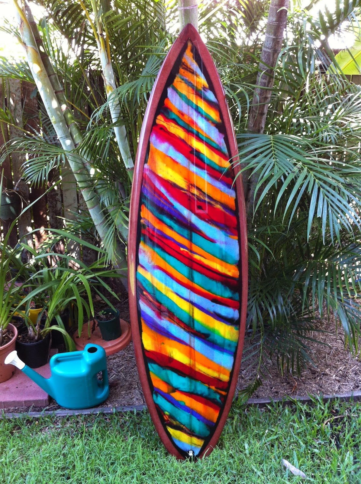 wooden surfboard the yang