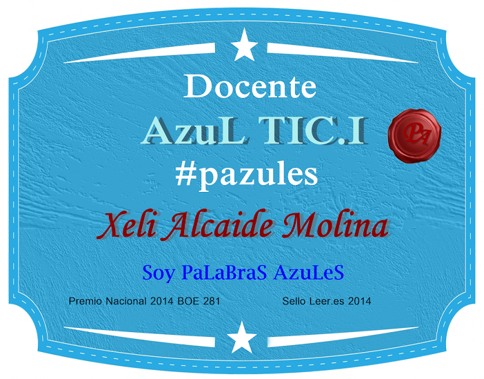 INSIGNIA PALABRAS AZULES