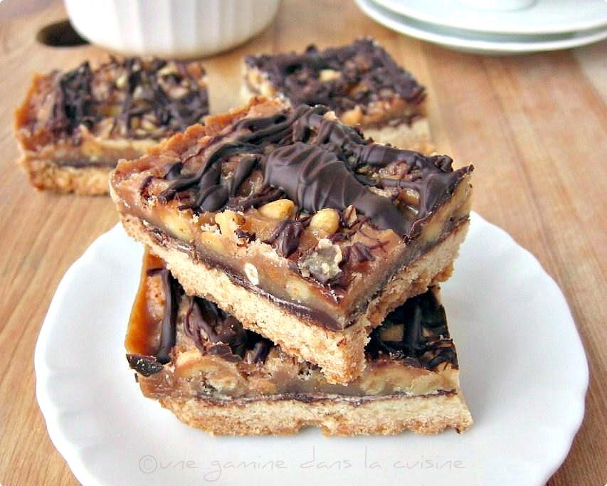 Pine Nut, Caramel & Sea Salt Shortbread Bars Recipe — Dishmaps
