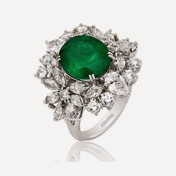 пръстен с изумруд