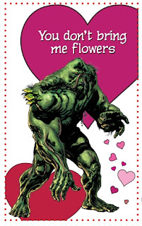 Swamp Thing Valentine's Day card from Young Romance #1