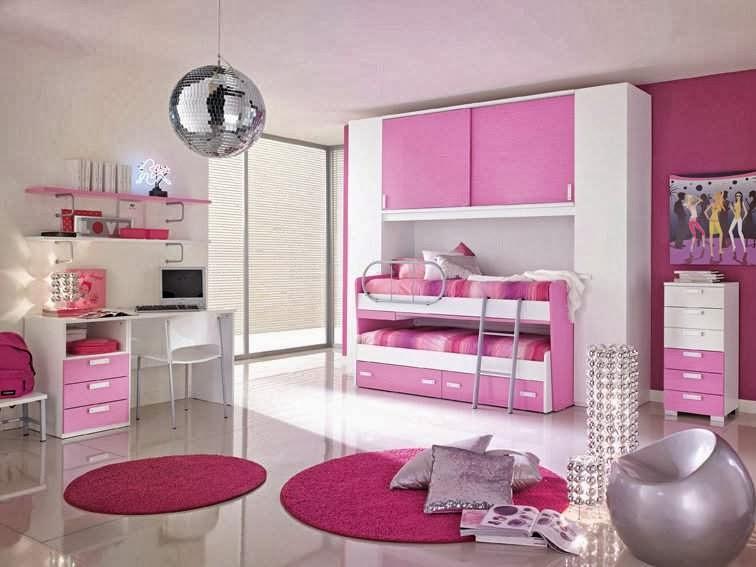 Dormitorio color rosa para dos ni as dormitorios colores - Dormitorio para ninas ...