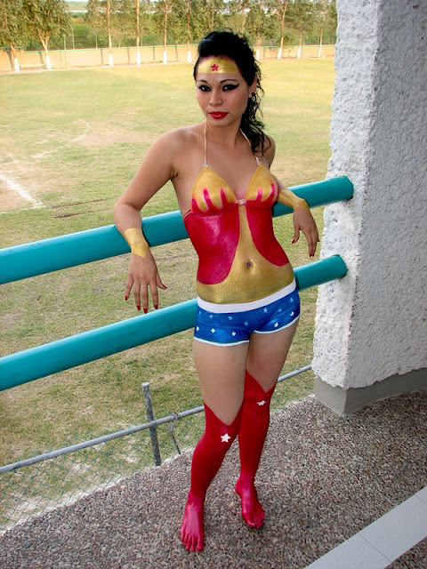 Halloween bodypaint women Costumes sexy bikini