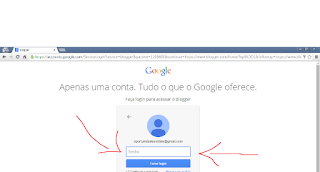 login do blogger