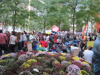 Crowd at Zuccotti Park, New York City, October 14, 2011. Photo credit: Laney Wax