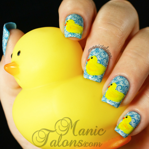 Rubber Duckie Manicure with LilyAnna 09
