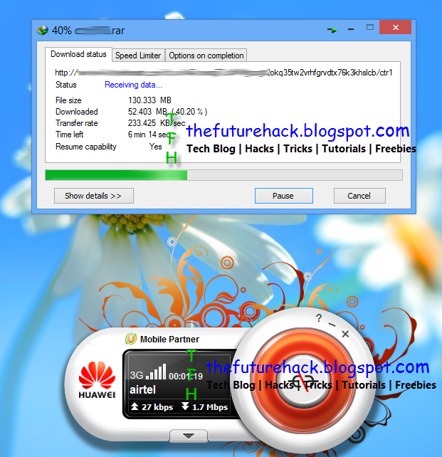 Screenshot Of Airtel 3G VPN Trick
