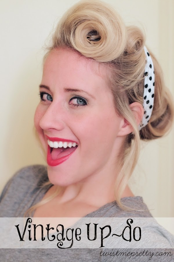 Pin Up Hair Style - Vintage Updo