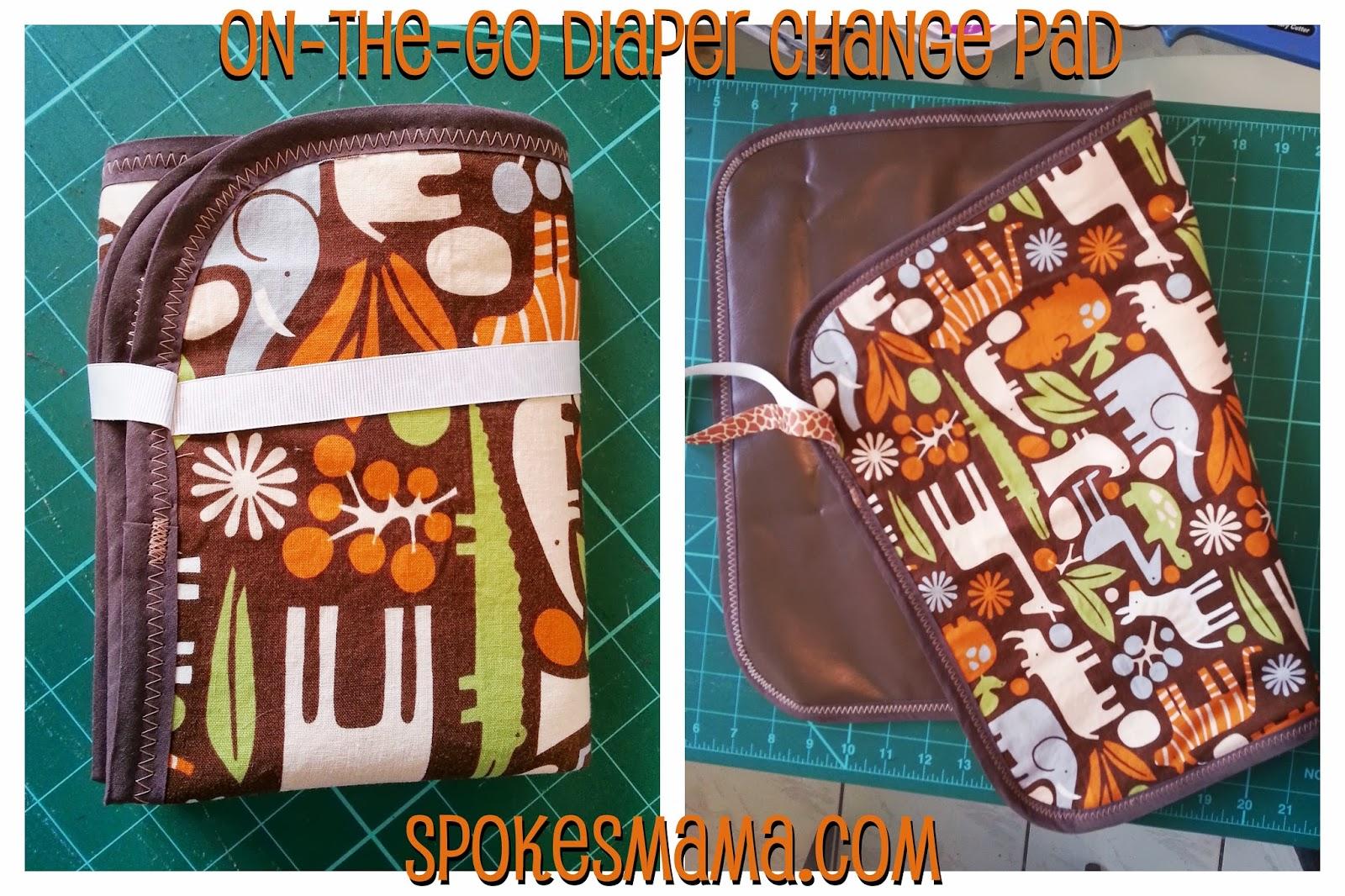 spokesmama on the go diaper change pad tutorial. Black Bedroom Furniture Sets. Home Design Ideas
